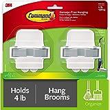 Command 17007-HW2ES Broom & Mop Gripper Set with 2 Grippers…
