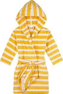 Sanetta 女童睡袍黄色婴儿和儿童浴袍