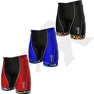 Sparx 男士铁人三项比赛短裤 | 铁人三项短裤 | 非常耐穿和贴身 | 高端压缩(*二层皮肤)铁人三项短裤带柔软定制麂皮 | 游泳跑步。 国旗 XX-L
