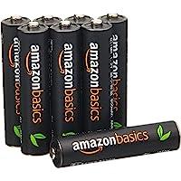 AmazonBasics 亚马逊倍思 8节七号高容量镍氢预充电可充电电池,可循环使用 500次(进口直采;日本制;标准值…