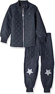 Mikk-Line 婴儿,幼儿和大孩子绗缝上衣和下装超保暖冬季套装