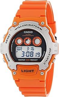 Casio 卡西欧 男式 W-214H-4AVCF 计时橙色手表