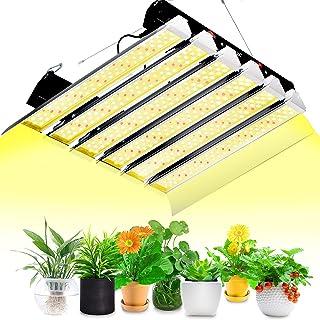 SZHLUX LED 生长灯 2000 W 5 × 5 英尺覆盖阳光全光谱生长灯,适用于水培室内植物种子蔬菜和绽放温室生长灯具 可连接 LED 植物灯