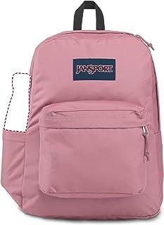 JanSport SuperBreak 背包 - 学校、旅行或工作书包,带水瓶袋,Blackberry Mousse