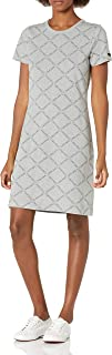 Calvin Klein 女式短袖徽标 T 恤连衣裙