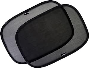 Enovoe 车窗遮阳罩 - (4 件装) - 53.34 厘米 x 35.56 厘米 适用于车窗的遮阳罩 - 为您的孩子提供阳光、眩光和紫外线保护 - 婴儿侧窗汽车遮阳罩