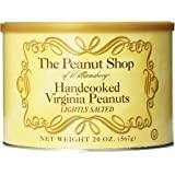The Peanut Shop of Williamsburg 手工烹制弗吉尼亚花生,淡盐味,20 盎司