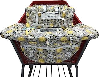 Baby Children Covers 购物车垫,适用于婴儿超市购物车保护套...(黄色花朵)