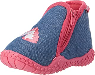 Playshoes 女童独角兽低帮拖鞋,蓝色/红色