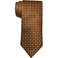 Brioni 绸缎棕色渐变涡纹花呢印花领带