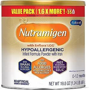 Mead Johnson 美赞臣 Enfamil Nutramigen 低致敏性婴儿奶粉 0-12个月 无乳糖-Omega 3 DHA,LGG,铁,19.8盎司/561g