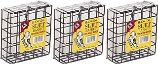 C&S 3 件装悬挂篮,1 英寸(约 2.5 厘米)钢丝,适用于野生鸟类喂食