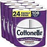 Cottonelle Ultra ComfortCare 厕纸 24 Family Mega Rolls 24份 24