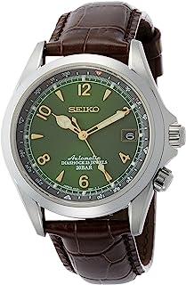 Seiko 精工男士手表 棕色小牛皮表带 SARB017