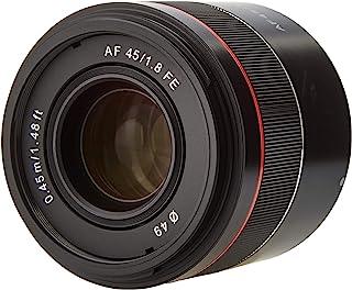 Samyang AF 45毫米F1.8索尼FE 全画幅微单相机大光圈镜头,用于无反光镜的Sony Alpha系统相机(FE和E型卡口),带全画幅和APS-C传感器,49毫米滤镜螺纹,小型,高级型,22803
