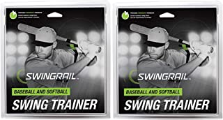 SWINGRAIL 棒球和垒球挥杆训练辅助器(2件装)