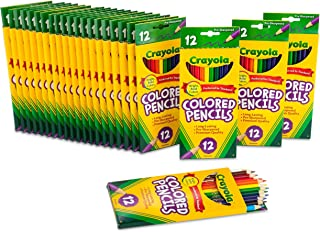 Crayola 绘儿乐 散装彩色铅笔,预磨尖,学校用品,12种不同的颜色,24支装