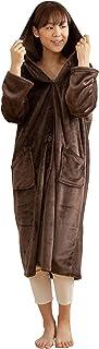 Niceday mofua 可穿着式毛毯 高级超细纤维 保暖居家服 带兜帽 棕色 Mサイズ 48476406