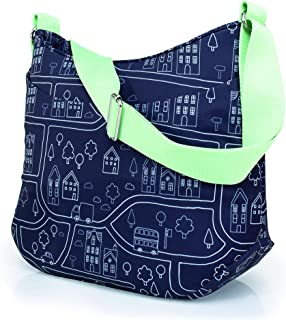 Cosatto Wowee 婴儿换尿布袋,奶瓶架,擦拭清洁垫,钥匙架,我的城镇,1.5 磅(约 67 克)