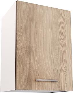 Berlioz Creations 顶部洗手台 厨房 1 门 箔纸 白蜡木 40 × 33.3 × 55.4 厘米