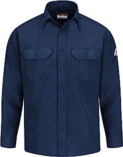 Bulwark Flame Resistant 4.5 oz Nomex IIIA Uniform Shirt Tailored Sleeve Placket 海蓝色 X-Large Tall