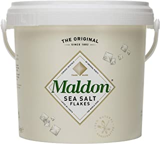 Maldon 海盐片,3.1磅,1.4千克,大桶,犹太洁食,天然,手工制作,美食,金字塔形水晶
