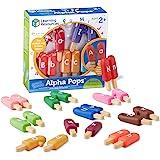 Learning Resources 字母棒冰玩具 益智零食阿尔法玩具 字母匹配 精细电动技能玩具 26块,适合2岁以上…