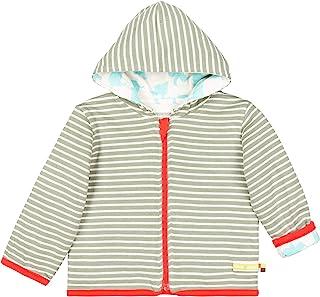 loud + proud 中性款婴儿运动夹克带兜帽,*棉,GOTS 撕裂