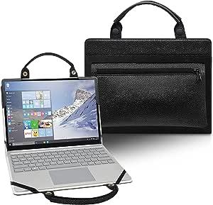 LiuShan 2 合 1 保护套 + 便携包 适用于 15.6 英寸 HP ProBook 450 G7/HP ProBook 455 G7/HP ProBook 455R G6/HP ProBook 450 G6 & Dell G3 3590 3500 笔记本电脑[不适用于 ProBook 450 G8 G5 G4 G3 G3 G2 G1],黑色