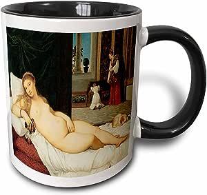 3drose BLN beautfiul nudes FINE ART 系列–VENUS OF urbino 作者 titian–马克杯 黑色/白色 11 oz