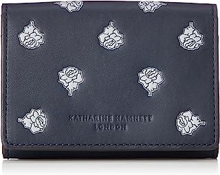 KATHARINE HAMNETT 伦敦 钱包 名片夹 玫瑰花园 KHP600, 藏青色, Free Size