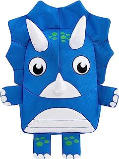 幼儿背包儿童恐龙背包,带*绳,适合男婴女孩 蓝色 11X7.9X4 Inches