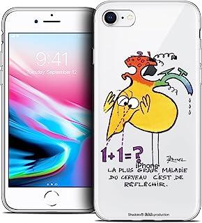 苹果 iPhone 5/5s/SE 手机壳 [官方*收藏家 Les Shadoks® 设计] 超薄柔软法国印花CPRNTSKI7BRAIN  Apple iPhone 7 (4.7) Réfléchir