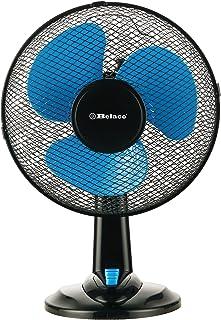 Belaco 12 英寸(约 30.5 厘米)蓝色台式风扇带 3 速振荡冷却风扇 立式风扇 落地风扇 低噪音 坚固 基地 高防护网 家庭办公室 (黑色和蓝色)