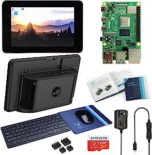 Vilros Raspberry Pi 4 台式机,带官方 7 英寸触摸屏和键盘和鼠标套装(8GB RAM)