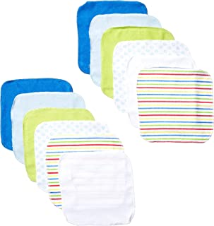 Luvable Friends 12 件毛巾,男孩鲸鱼图案 蓝色 均码