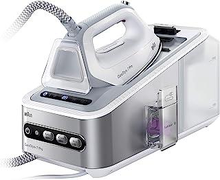 BRAUN 博朗 Carestyle 7 IS7155WH熨斗(2400 W 125克/分钟,喷气500克/分钟,Eloxal 3D Plus双向底板,iCare技术,FastClean系统,白色/灰色)