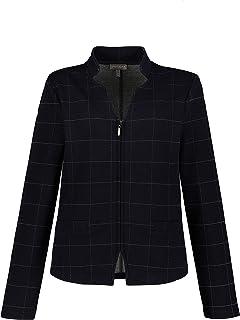 GINA LAURA 女士西装外套,格子图案,立领,运动衫质量 750434