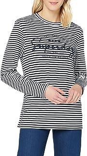 Superdry 极度干燥 女士条纹图案 NYC 上衣 T 恤
