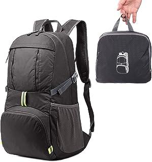 Sarhlio 旅行徒步背包 背包 35L 轻便可收纳 黑色//白色 35L