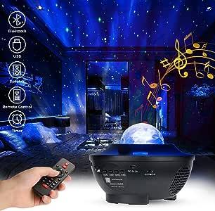 Zobom LED 星云投影机星云银河投影机星夜灯投影仪海洋波投影机带蓝牙音箱遥控激光星光投影仪卧室