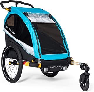 Burley D'Lite X,1 和 2 座儿童自行车拖车和婴儿车,带座椅斜倚和悬架