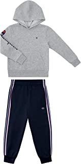 Champion 男童两件套运动抓绒上衣经编短裤套装儿童服装