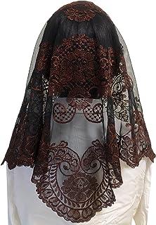 三角形 Mantilla 蕾丝头纱覆盖大天主教堂面纱
