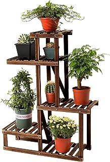 室内室外植物支架,多层木植物架,高架花架架花盆展示露台角落客厅办公室阳台花园(7 个花盆)