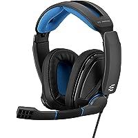 EPOS Sennheiser GSP 300 游戏耳机,具有降噪麦克风,翻盖静音,舒适的记忆泡沫耳垫,适用于PC,Ma…