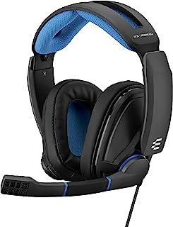 EPOS Sennheiser GSP 300 游戏耳机,具有降噪麦克风,翻盖静音,舒适的记忆泡沫耳垫,适用于PC,Mac,Xbox One,PS4,Nintendo Switch和智能手机