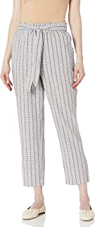 BCBGeneration 女式腰部系带格子裤