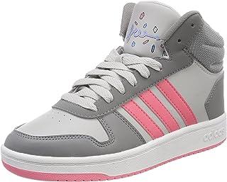 adidas 女童 VHoops Mid 2.0 高帮运动鞋