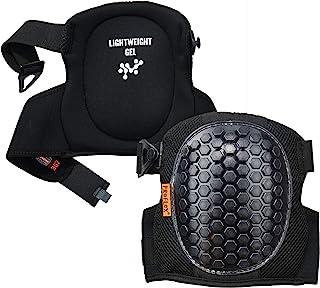 Ergodyne ProFlex 367 专业护膝,保护性圆帽,轻质凝胶衬垫技术,可调节肩带,黑色